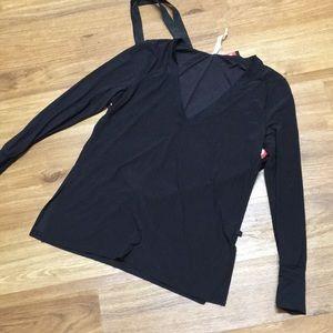Longsleeve v-neck sheer shirt